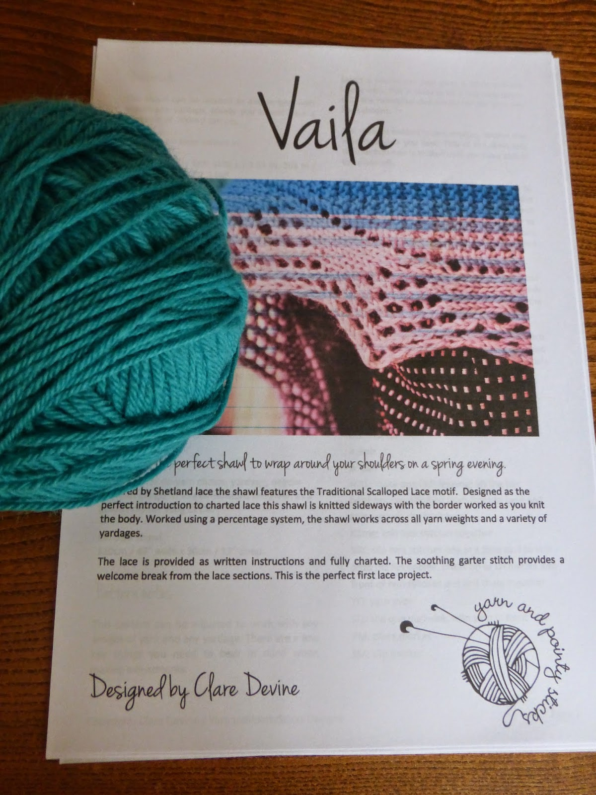 vaila pattern by clare devine shawl lace border