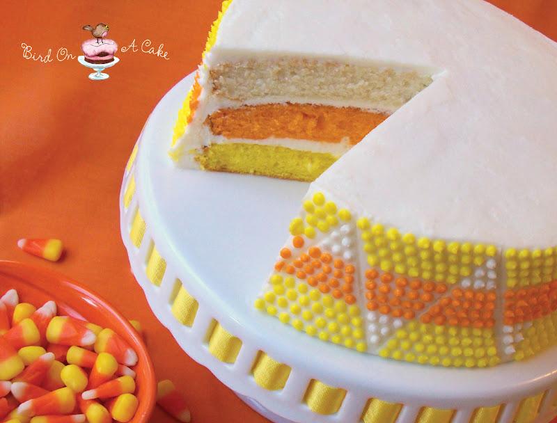 Bird On A Cake Candy Corn Cake