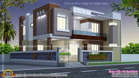 1845 sq ft 3 bedroom house keralahousedesigns Indian modern house