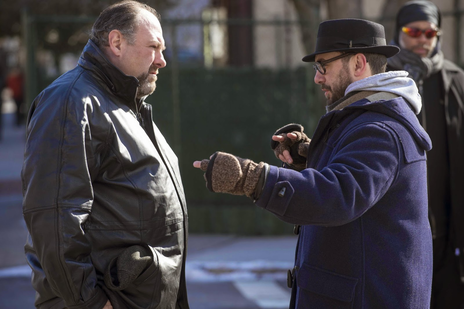 James Gandolfini (Marv) y Michaël R. Roskam (director)