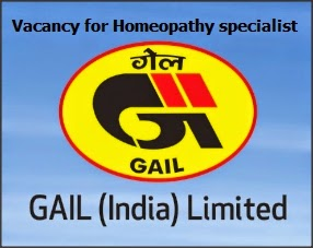 GAIL Vacancy homeopathy
