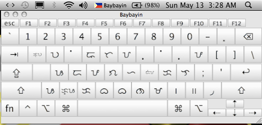 Baybayin Unicode Keyboard Layout for Mac
