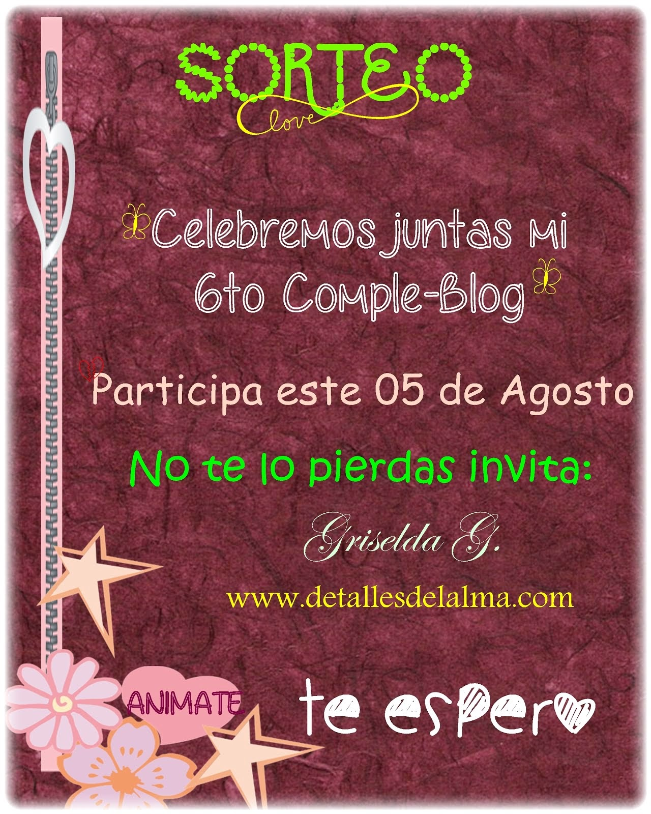 SORTEO 6to Cumple-Blog