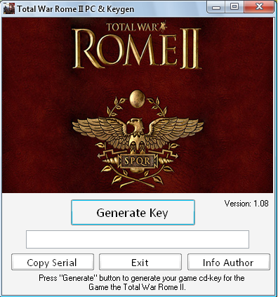 Total War ROME 2 (II) KEY Generator