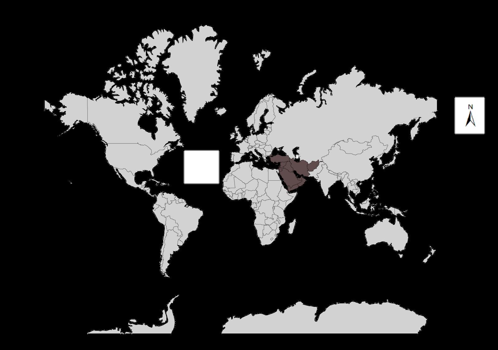 Mapa Mundi Oriente Medio