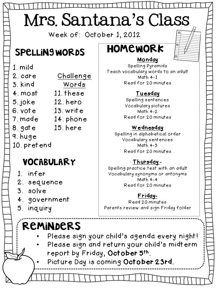 Year   Spellings Words Lists   New Curriculum by