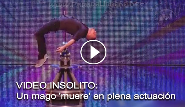 VIDEO INSOLITO -  Un mago 'muere' en plena actuación