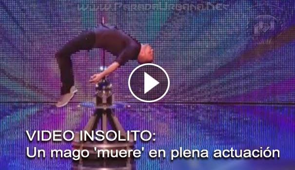 VIDEO INSOLITO -  Un mago 'muere' en plena actuación
