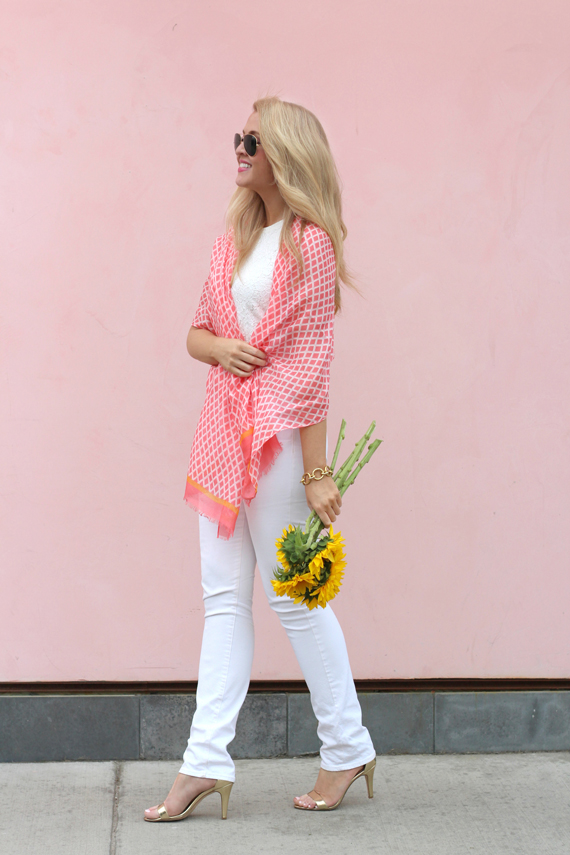 coral-scarf-with-white-jcrew-jeans