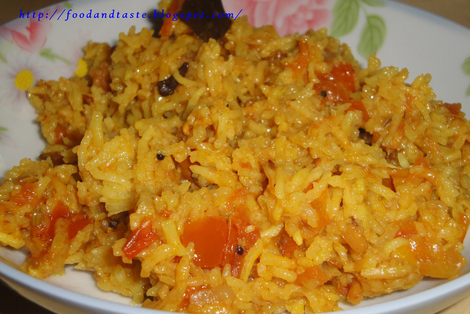 food and taste thakkali sadam tomato rice south indian recipe