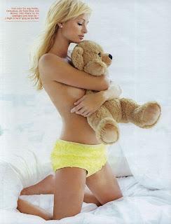 Paris hilton nip slip with bear