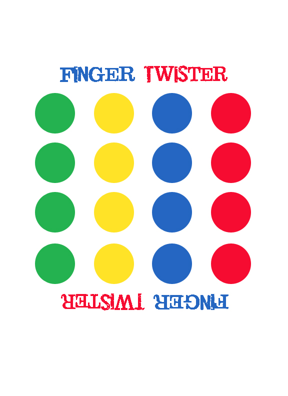 picture relating to Twister Spinner Printable named Later on Gator Crafts: Finger Twister