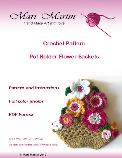 Crochet Pattern Flower Basket PDF