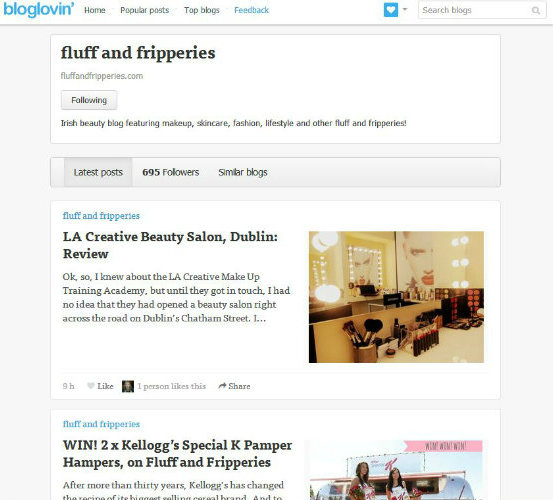 Follow Fluff and Fripperies on Bloglovin'