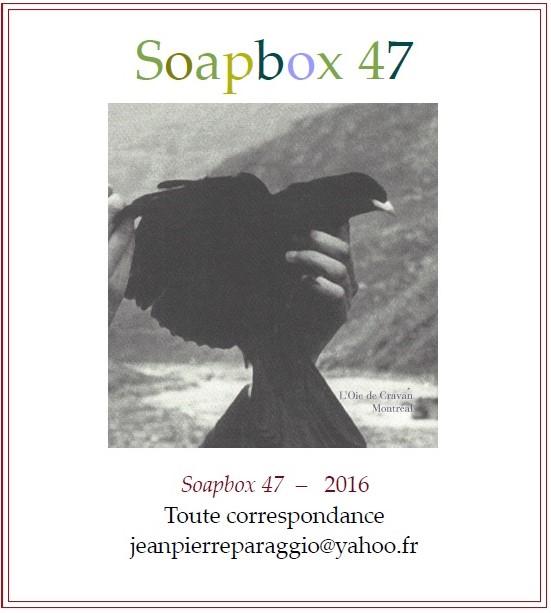 SOAPBOX 47; 46; 45; 44 - FEUILLETS de L'UMBO 2016, ART & POÉSIE