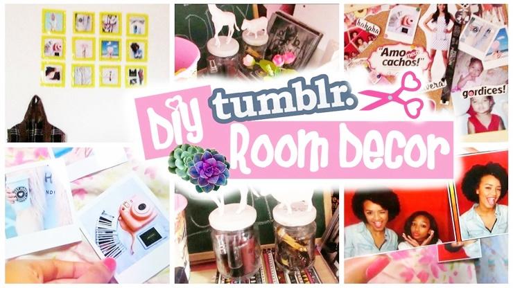 DIY Decoração de quarto inspirado no tumblr + organização