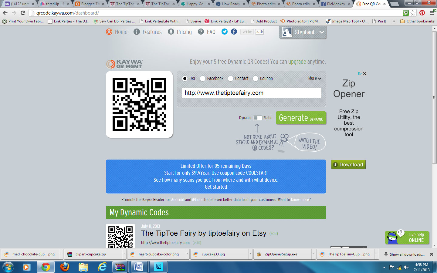 Make Your Own Business Cards & Labels with QR code @PicMonkey | The ...