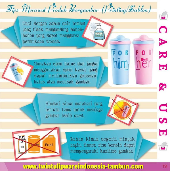 Care & Use : Tips Merawat Produk Tulipware