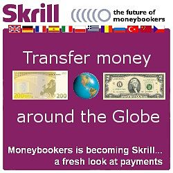 Send Land funds anywhere with SKRILL