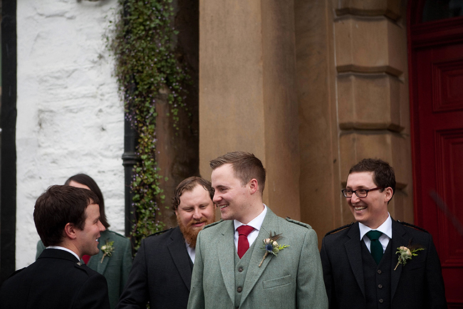 {Lillian and Leonard Wedding Photography} groomsmen in tweed
