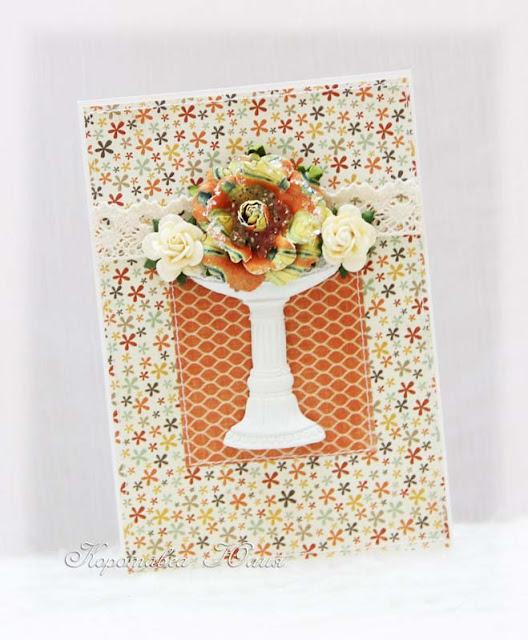 открытка с вазой