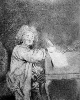Jean-Féry Rebel: drawing by Antoine Watteau,  Musée Magnin, Dijon (France)