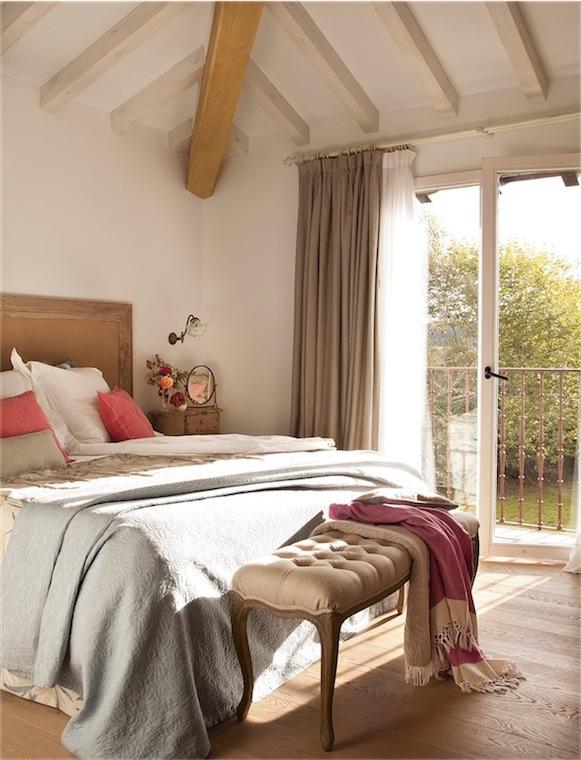 Dormitorio casa de campo - Cortinas para casa de campo ...