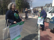 Green activists protest Bute Park bridge cycle lanes