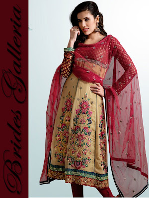Anarkali Dress in Pink color with beautiful necks. This Anarkali ...