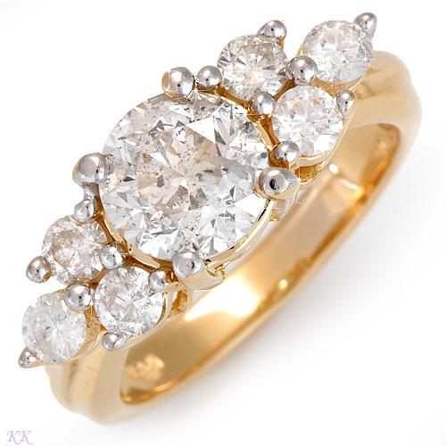 Lovely Unique Yellow Gold Engagement Rings