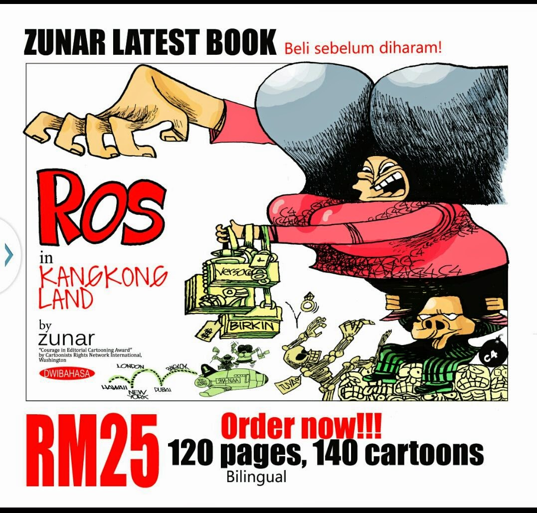 Zunar cari pasal lagi kali ni ROS di Tanah Kangkong pulak