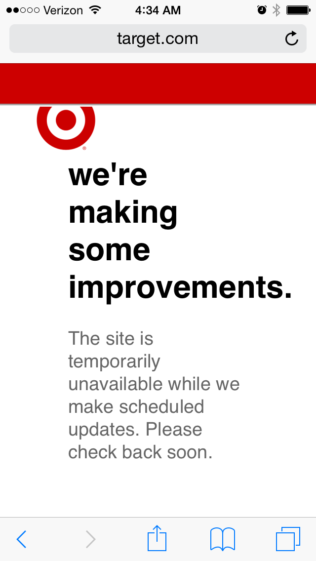 lilly pulitzer for target website crash