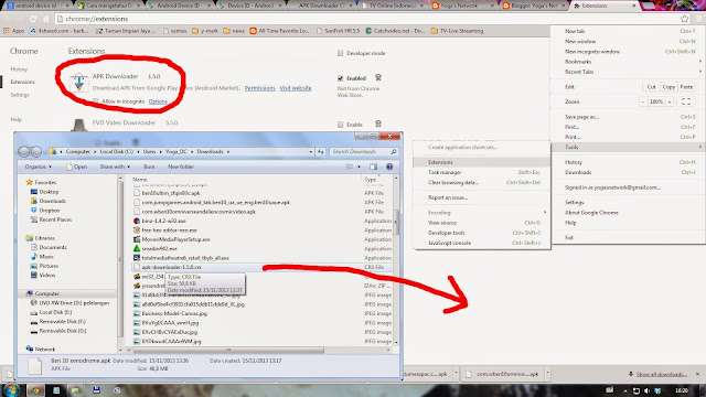 how to download file chrome blocks