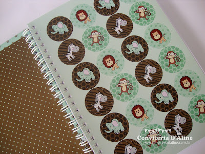 caderno personalizado safari