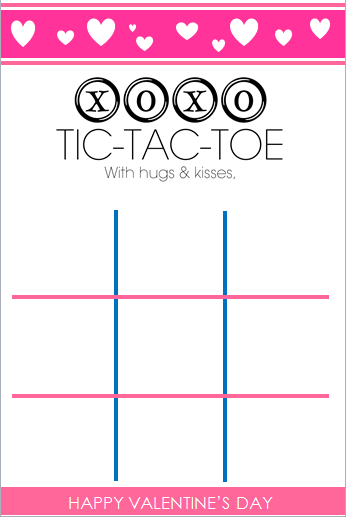 Current image within printable tic tac toe board