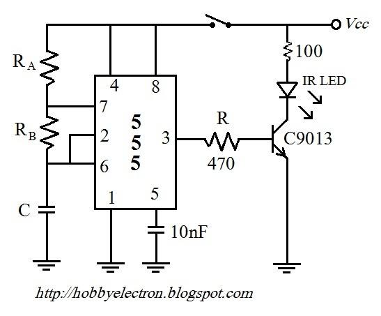 ne 555  u0026 lm 567 remote control circuit