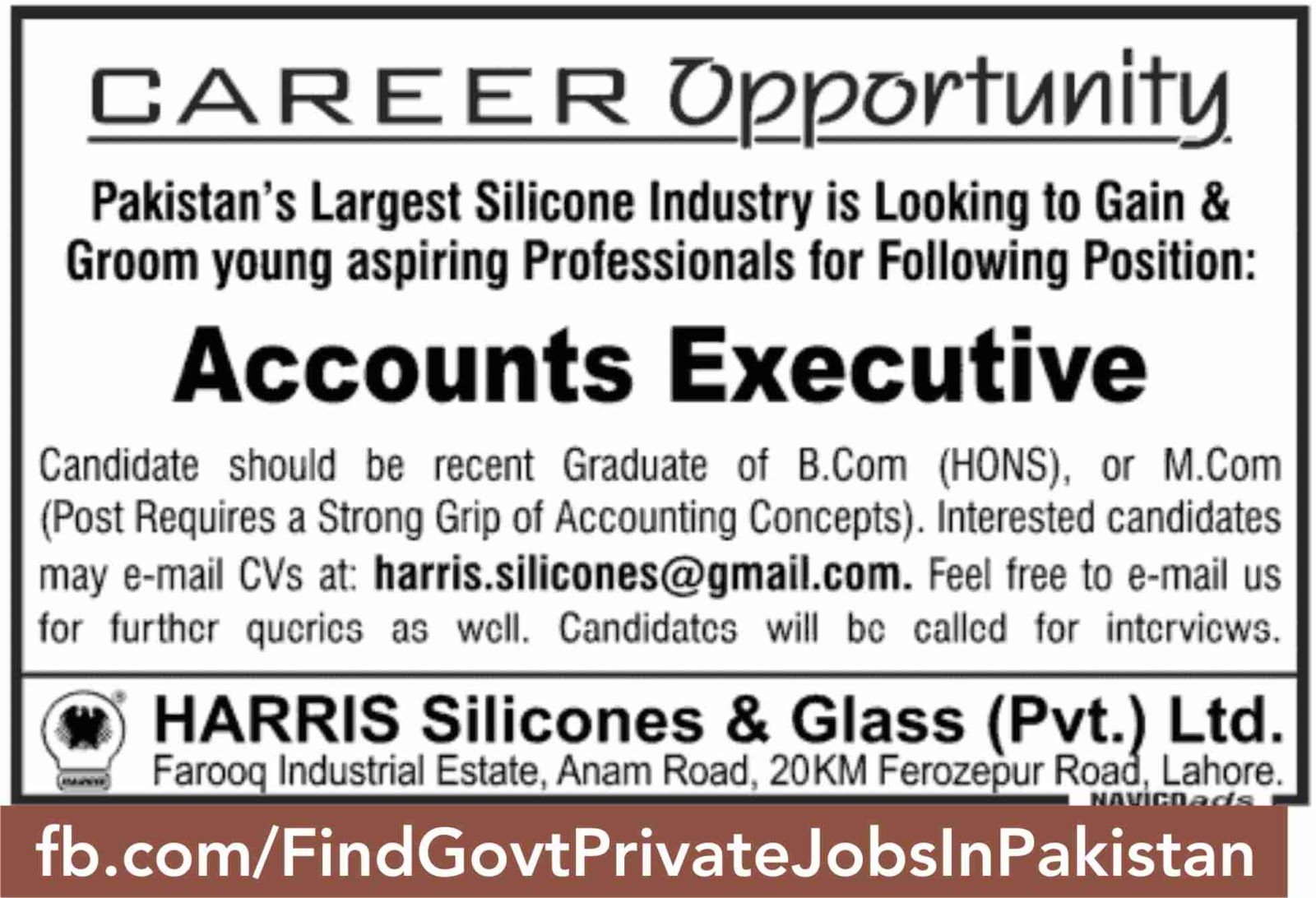job ads for account officer