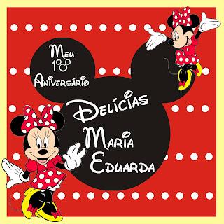 Rótulo Personalizado para Marmita Minnie