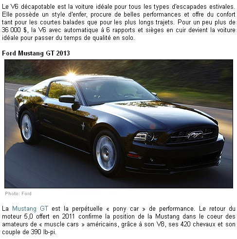 2013 mustang guide d achat auto123 concessionnaireford. Black Bedroom Furniture Sets. Home Design Ideas