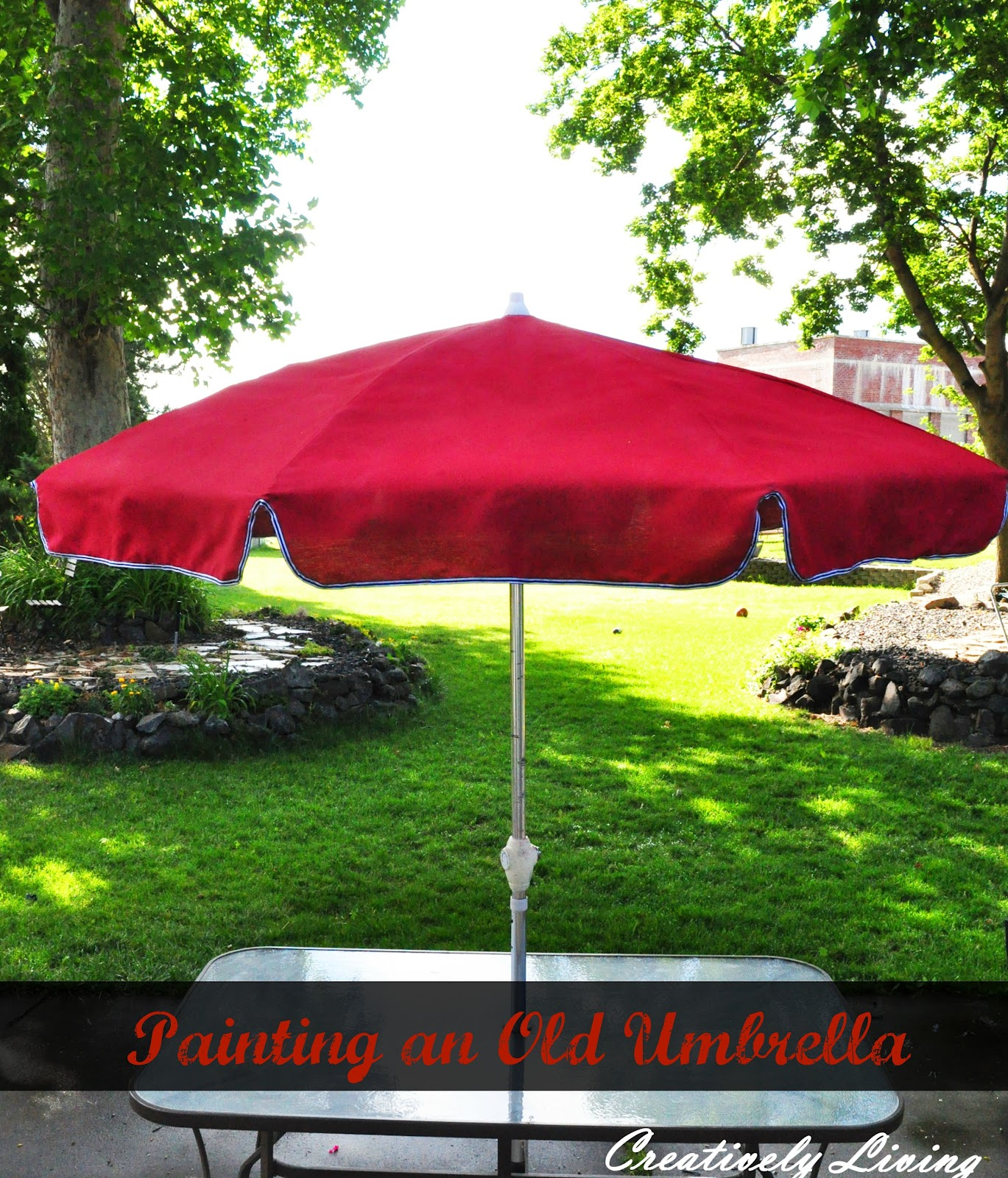 Painting Your Old Umbrella Creatively Living Blog