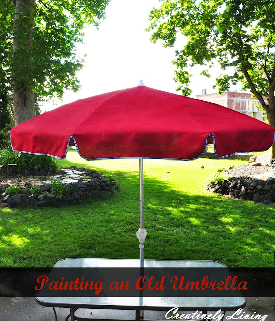 paint old umbrella