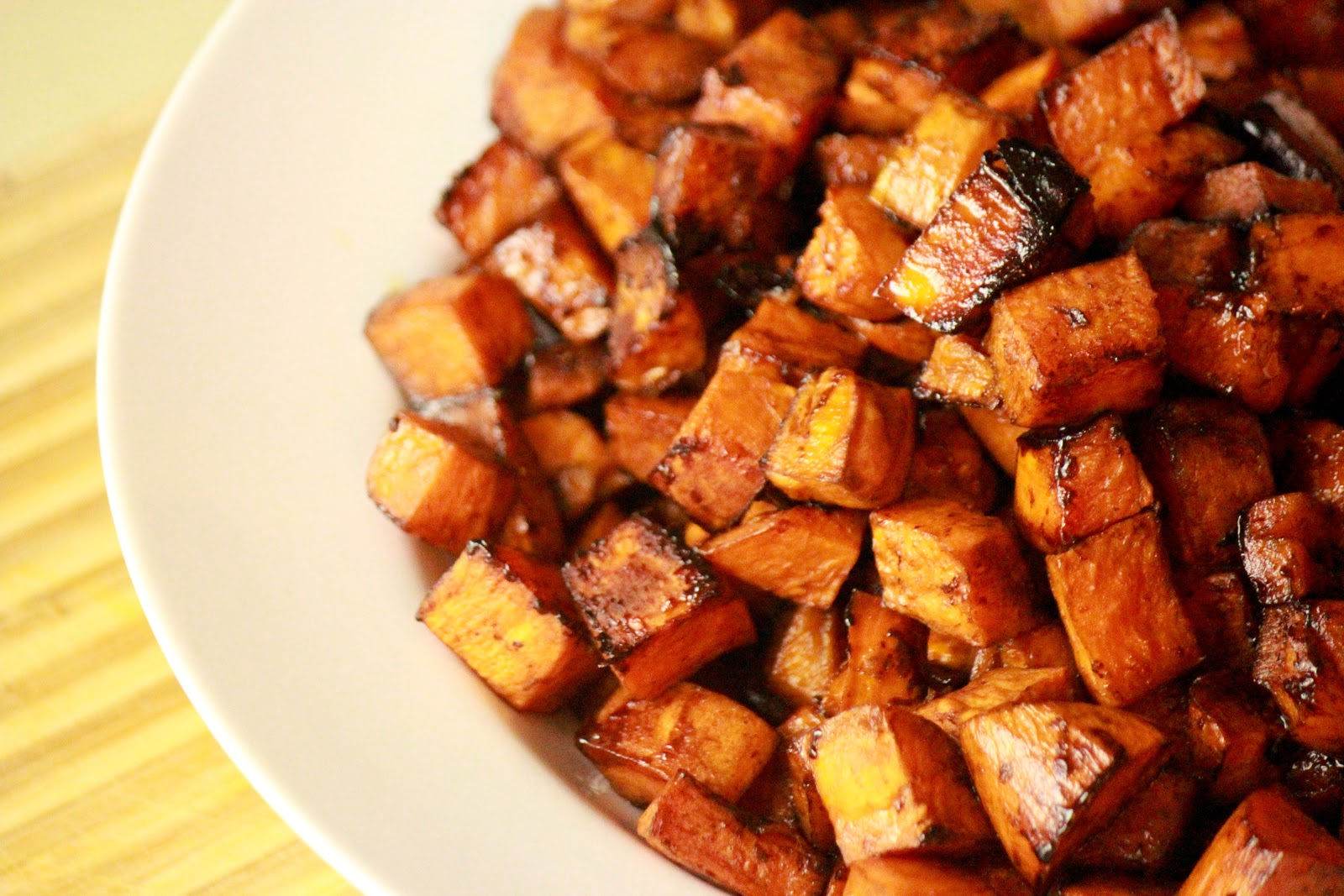 From Dahlias to Doxies: Roasted Balsamic Sweet Potatoes