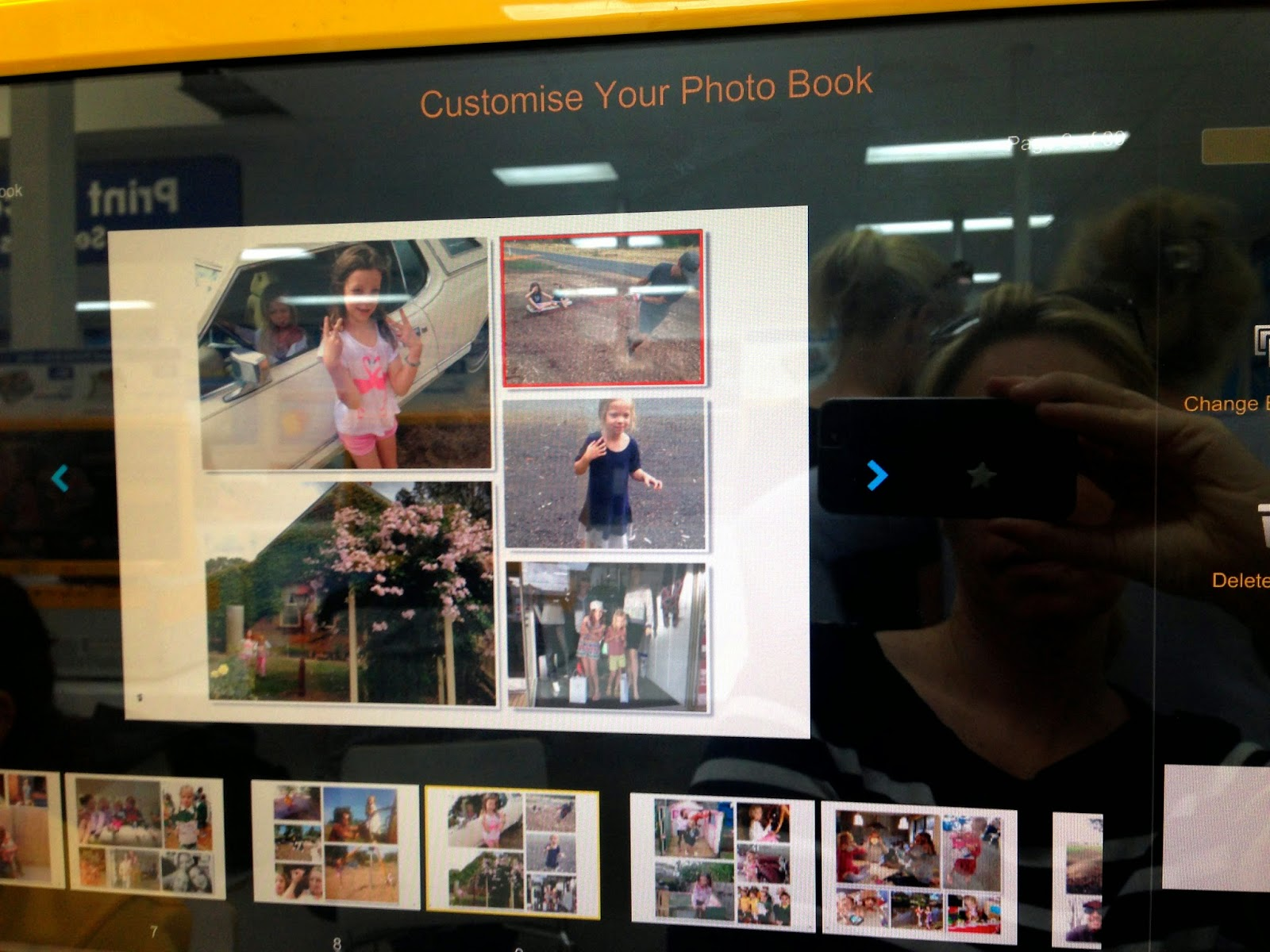 Photobook on screen
