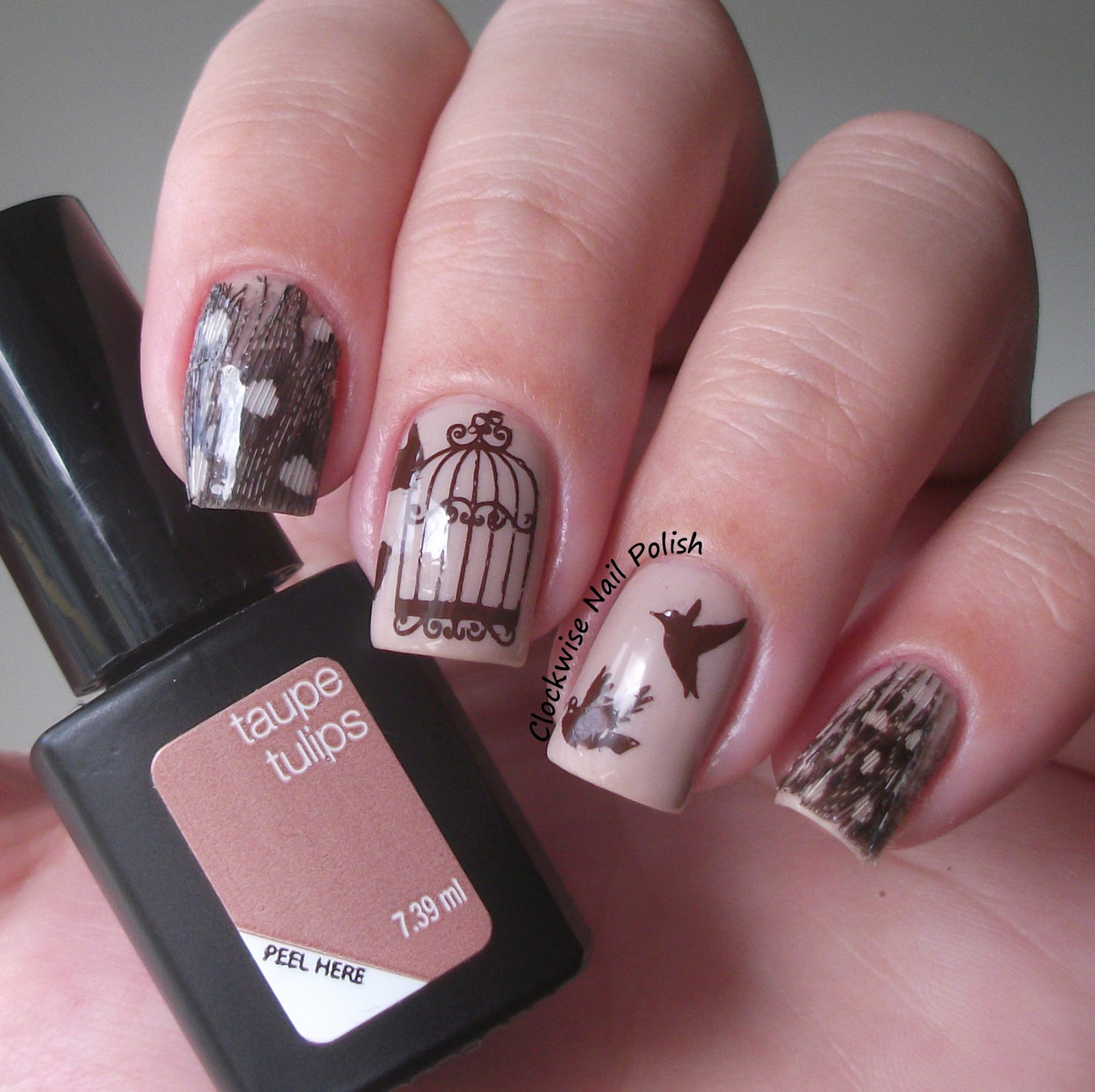 The Clockwise Nail Polish: SensatioNail Taupe Tulips Review ...