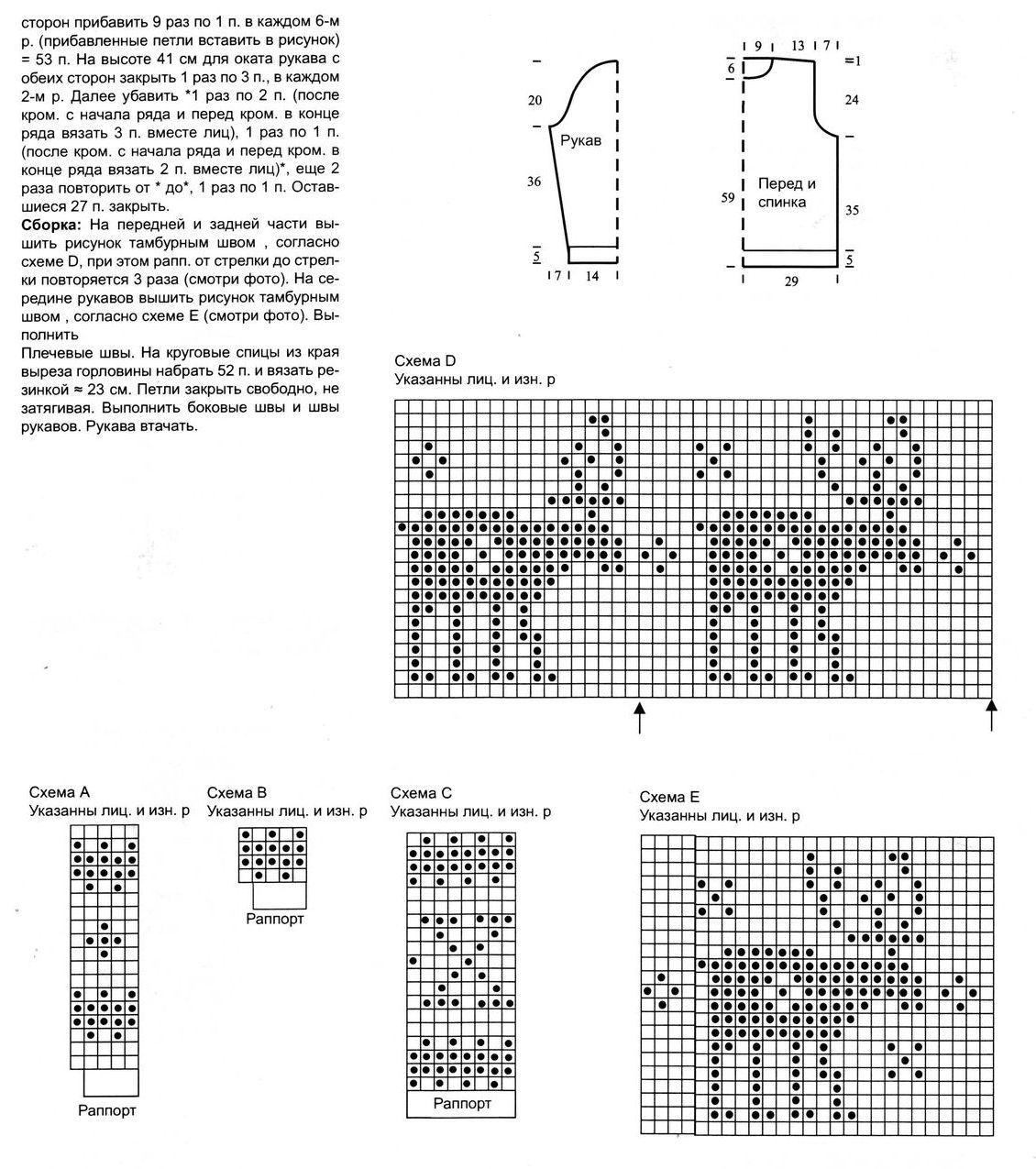 Рисунки вязания спицами для мужчин