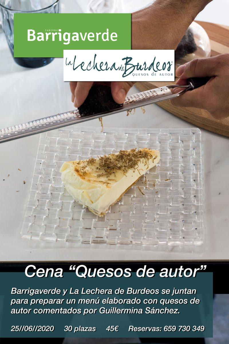 """Cena """"Quesos de Autor"""" de Barrigaverde y La Lechera de Burdeos."""