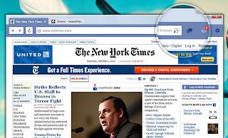 Clique e veja muitas novidades no blog, navegador da Web do Facebook...