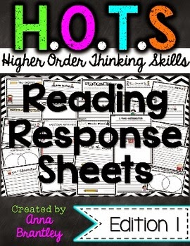 https://www.teacherspayteachers.com/Product/HOTS-Higher-Order-Thinking-Skills-Reading-Response-Sheets-131182
