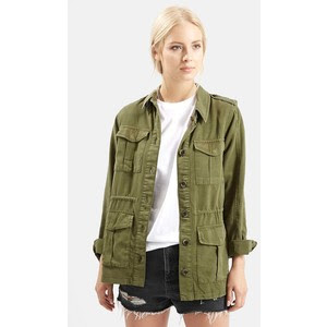 Elsa Four Pocket Utility Jacket by Topshop