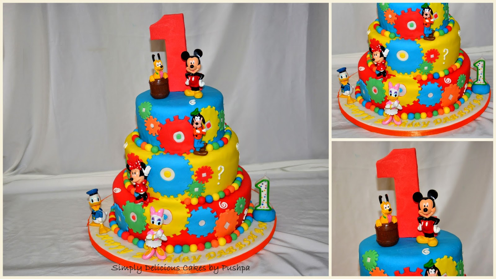 Simply Delicious Cakes Mickey And Friends First Birthday Party